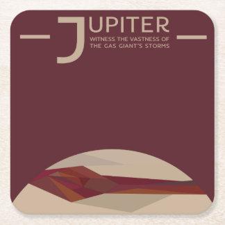 Porta-copo De Papel Quadrado Porta copos do espaço de Jupiter