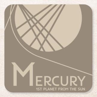 Porta-copo De Papel Quadrado Porta copos do espaço de Mercury