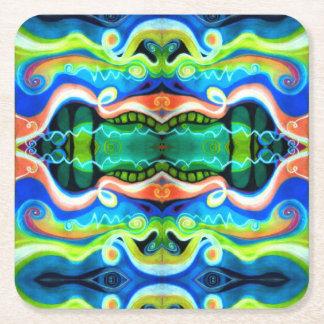 Porta-copo De Papel Quadrado Porta copos do papel do abstrato do Pastel do óleo
