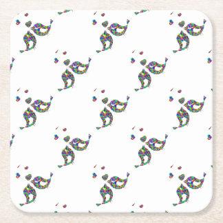 Porta-copo De Papel Quadrado Porta copos do papel quadrado dos pássaros e dos