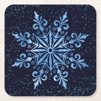 Porta-copo De Papel Quadrado Porta copos do partido do floco de neve do feriado