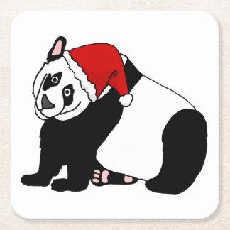 Porta-copo De Papel Quadrado Porta copos do urso de panda do papai noel