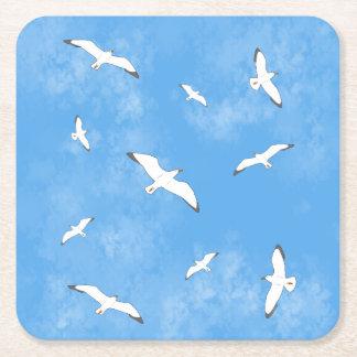 Porta-copo De Papel Quadrado Porta copos dos céus da gaivota