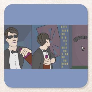 Porta-copo De Papel Quadrado Porta copos - ladrão do vinho