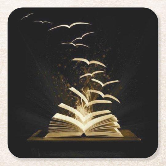 Porta-copo De Papel Quadrado porta copos livro