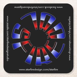 Porta-copo De Papel Quadrado Porta copos quadrada de Starfire com URL