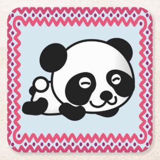 Porta-copo De Papel Quadrado Porta copos sonolento da panda