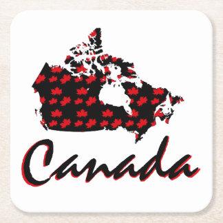 Porta-copo De Papel Quadrado Porta copos vermelha da bebida de Canadá do bordo