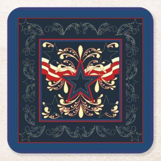 Porta-copo De Papel Quadrado Portas copos azuis da americana do vintage