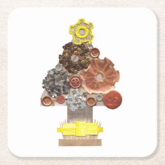 Porta-copo De Papel Quadrado Portas copos do costume da árvore de Natal de
