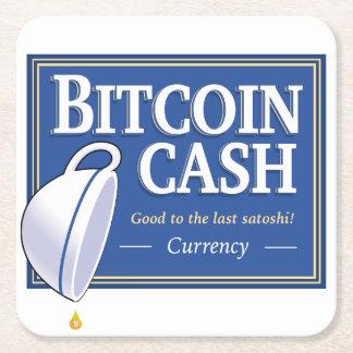 Porta-copo De Papel Quadrado Portas copos do dinheiro de Bitcoin