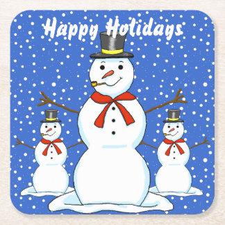 Porta-copo De Papel Quadrado Portas copos do Natal dos bonecos de neve