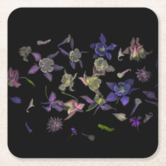 Porta-copo De Papel Quadrado Portas copos do quadrado mágico da flor