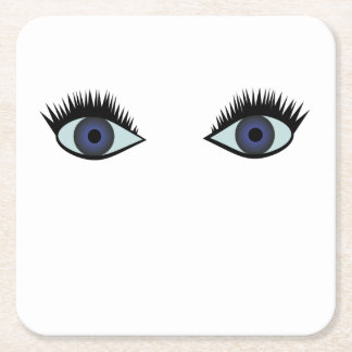 Porta-copo De Papel Quadrado portas copos dos olhos azuis