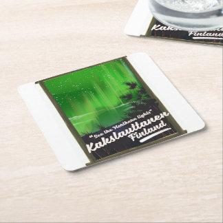 Porta-copo De Papel Quadrado Poster de viagens de Kakslauttanen finland