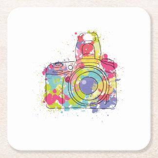 Porta-copo De Papel Quadrado Presente colorido da fotografia do fotógrafo