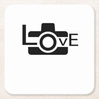 Porta-copo De Papel Quadrado Presente da fotografia do amor do fotógrafo