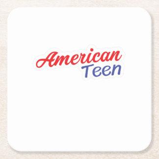 Porta-copo De Papel Quadrado Presentes americanos adolescentes da camisa do