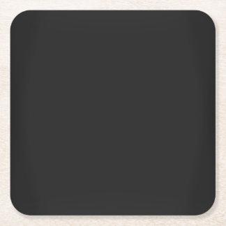 Porta-copo De Papel Quadrado Preto moderno do carvão vegetal customizável