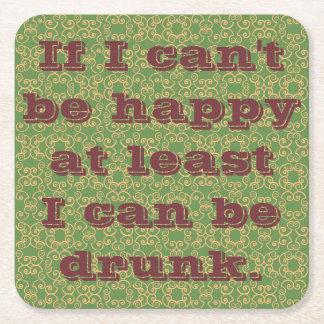 Porta-copo De Papel Quadrado Provérbios bêbedos