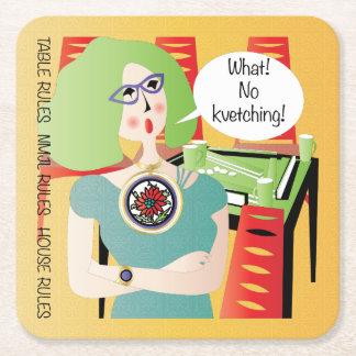 Porta-copo De Papel Quadrado Provérbios Kvetching do Mah Jongg