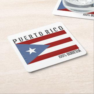Porta-copo De Papel Quadrado Puerto Rico Boricua