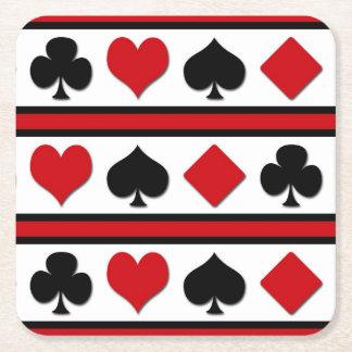 Porta-copo De Papel Quadrado Quatro ternos do cartão