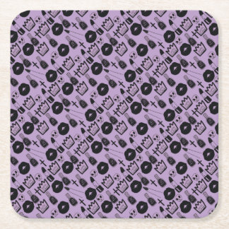 Porta-copo De Papel Quadrado rainha gotica purpura