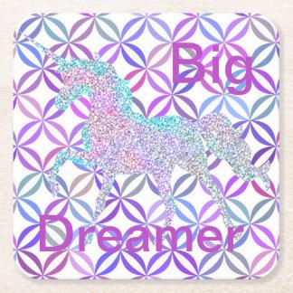 Porta-copo De Papel Quadrado Redemoinho roxo sonhador grande colorido das