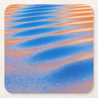 Porta-copo De Papel Quadrado Reflexão do penhasco na garganta do vale de Powell