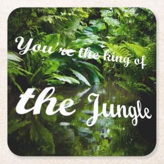 Porta-copo De Papel Quadrado Rei da selva