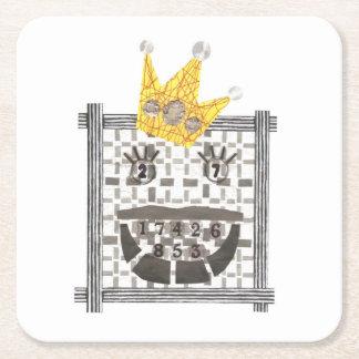 Porta-copo De Papel Quadrado Rei Sudoku Costume Porta copos