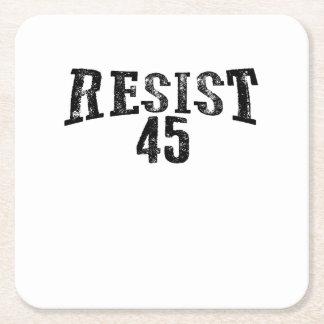 Porta-copo De Papel Quadrado Resista um protesto de 45 trunfos