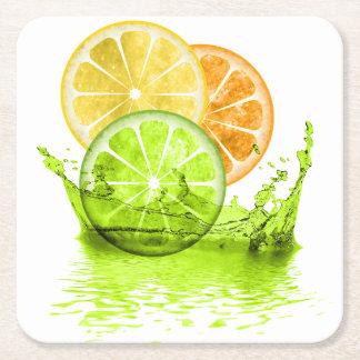 Porta-copo De Papel Quadrado Respingo ID165 da fruta do verão