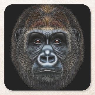Porta-copo De Papel Quadrado Retrato ilustrado do homem do gorila