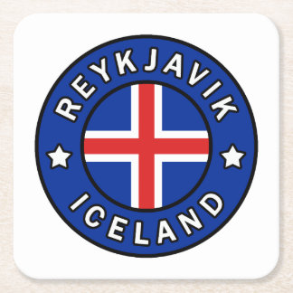 Porta-copo De Papel Quadrado Reykjavik Islândia