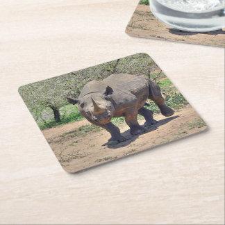 Porta-copo De Papel Quadrado rinoceronte