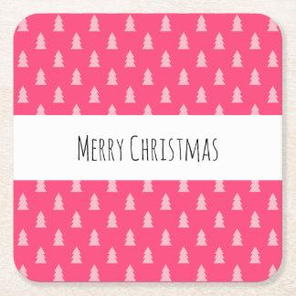 Porta-copo De Papel Quadrado Rosa pastel e quente do teste padrão bonito da