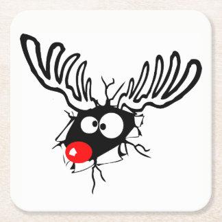 Porta-copo De Papel Quadrado Rudolph engraçado bonito os desenhos animados