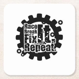 Porta-copo De Papel Quadrado Ruptura da raça ele reparo ele mecânico de