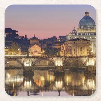 Porta-copo De Papel Quadrado Santuários Sedes por o orarium Romae