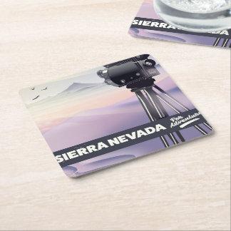 Porta-copo De Papel Quadrado Serra poster de viagens de Nevada