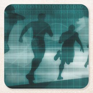 Porta-copo De Papel Quadrado Silhueta do software do perseguidor do App da