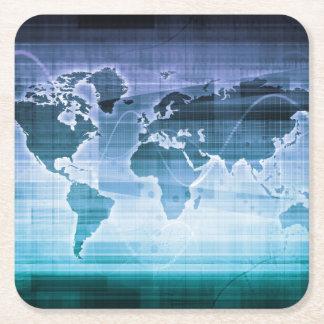 Porta-copo De Papel Quadrado Soluções globais da tecnologia