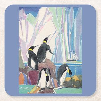 Porta-copo De Papel Quadrado terra do pinguim