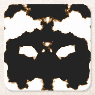 Porta-copo De Papel Quadrado Teste de Rorschach de um cartão da mancha da tinta