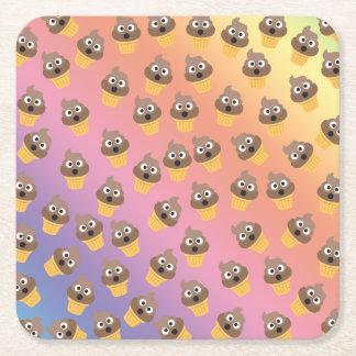 Porta-copo De Papel Quadrado Teste padrão bonito do cone do sorvete de Emoji do