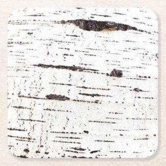 Porta-copo De Papel Quadrado Teste padrão do latido de vidoeiro
