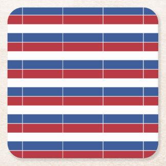 Porta-copo De Papel Quadrado Teste padrão patriótico de Netherland Holland