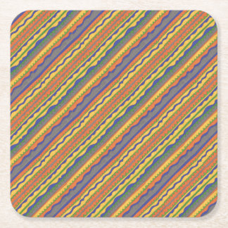 Porta-copo De Papel Quadrado Teste padrão tribal asteca colorido